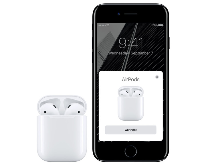 With any Apple device, the AirPods will automatically connect. No pairing is needed.
