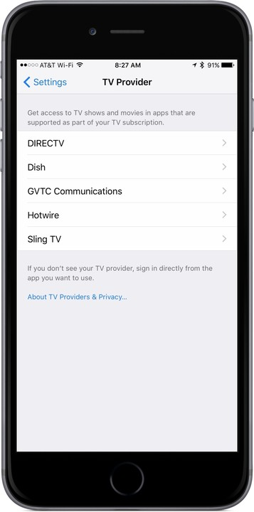 DirecTV Now Part of Apple\'s Single Sign-On for iOS and Apple TV