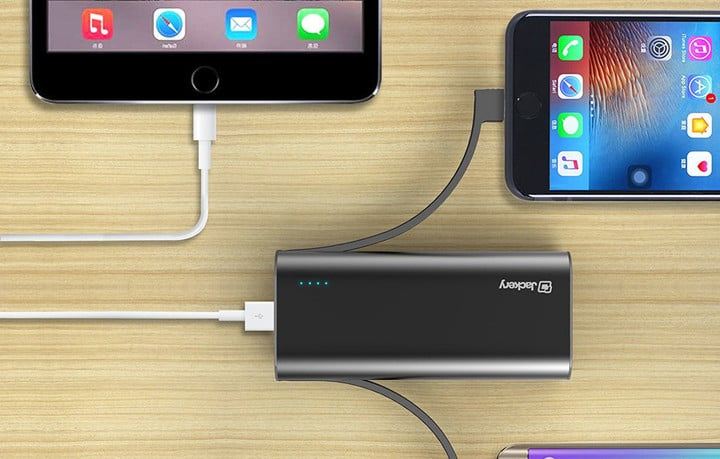 Charge three devices at once with the Jackery Bolt portabl battery charger