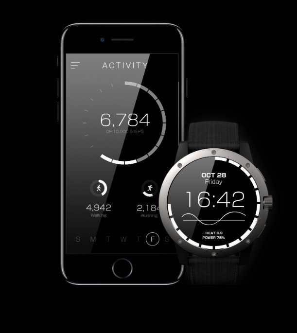 All of the information gathered by the smartwatch can also be accessed through the companion iOS app.