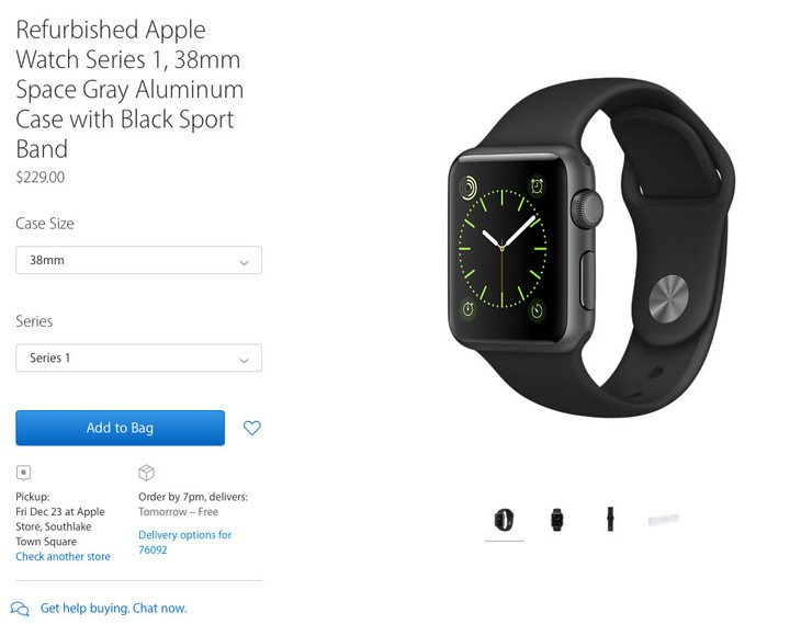 You can snag a 38mm Series 1 model for $229.