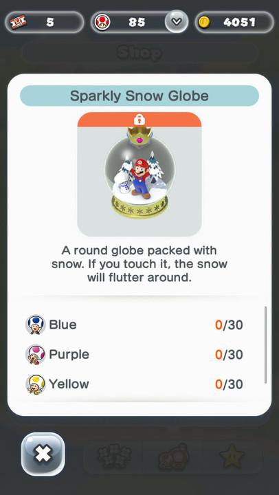 Super Mario Run Friendly Run snow globe