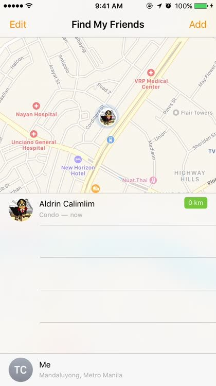 How to set location notifications for a specific friend