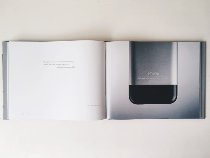 Iconic book featuring the original iPhone with a quotation by Steve Jobs