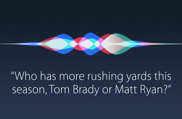 Siri can answer questions about the Falcons and Patriots and more