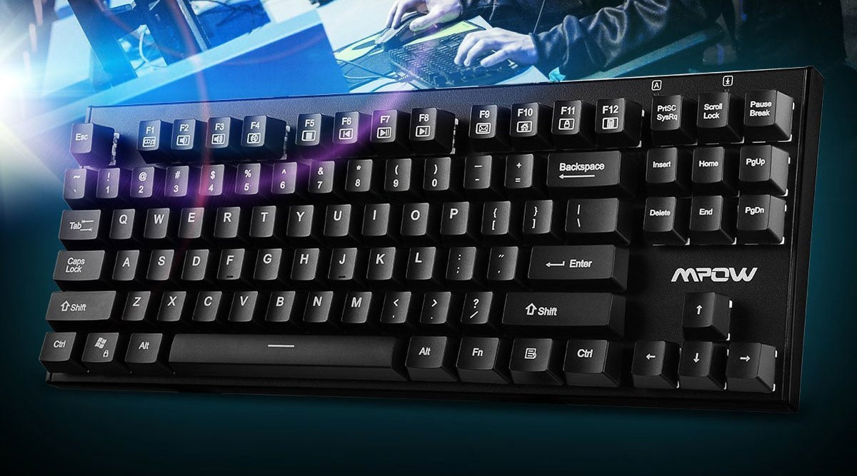 This Mpow Water-Resistant Mechanical Keyboard is Just $27