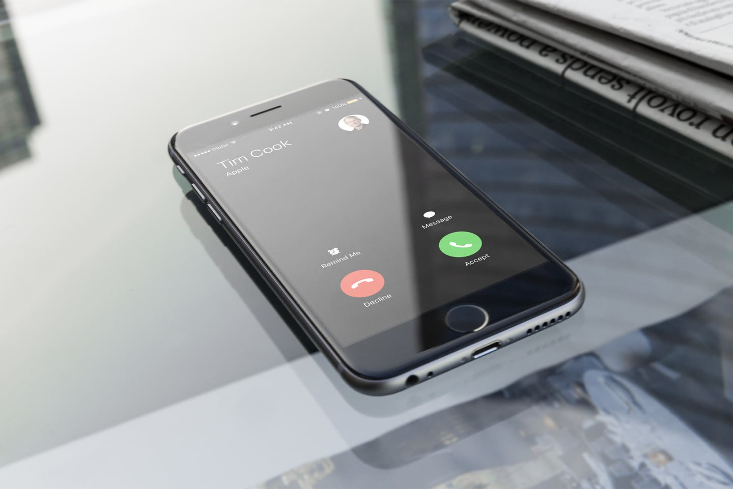 Identify incoming calls Tim Cook