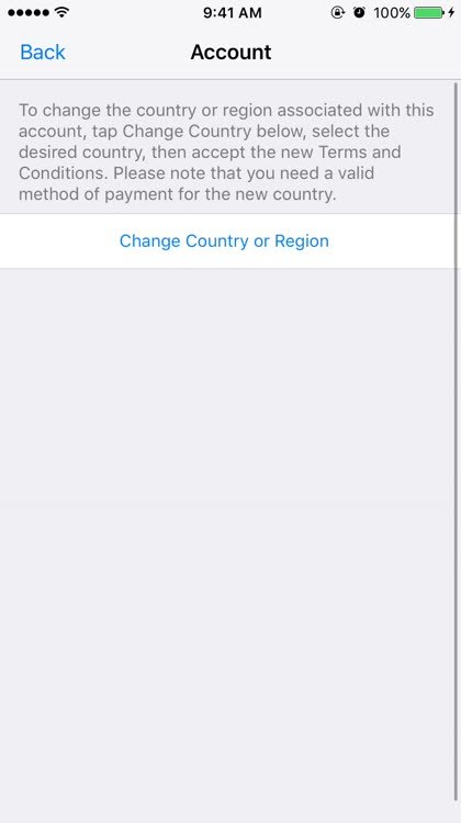 How to change your App Store country or region