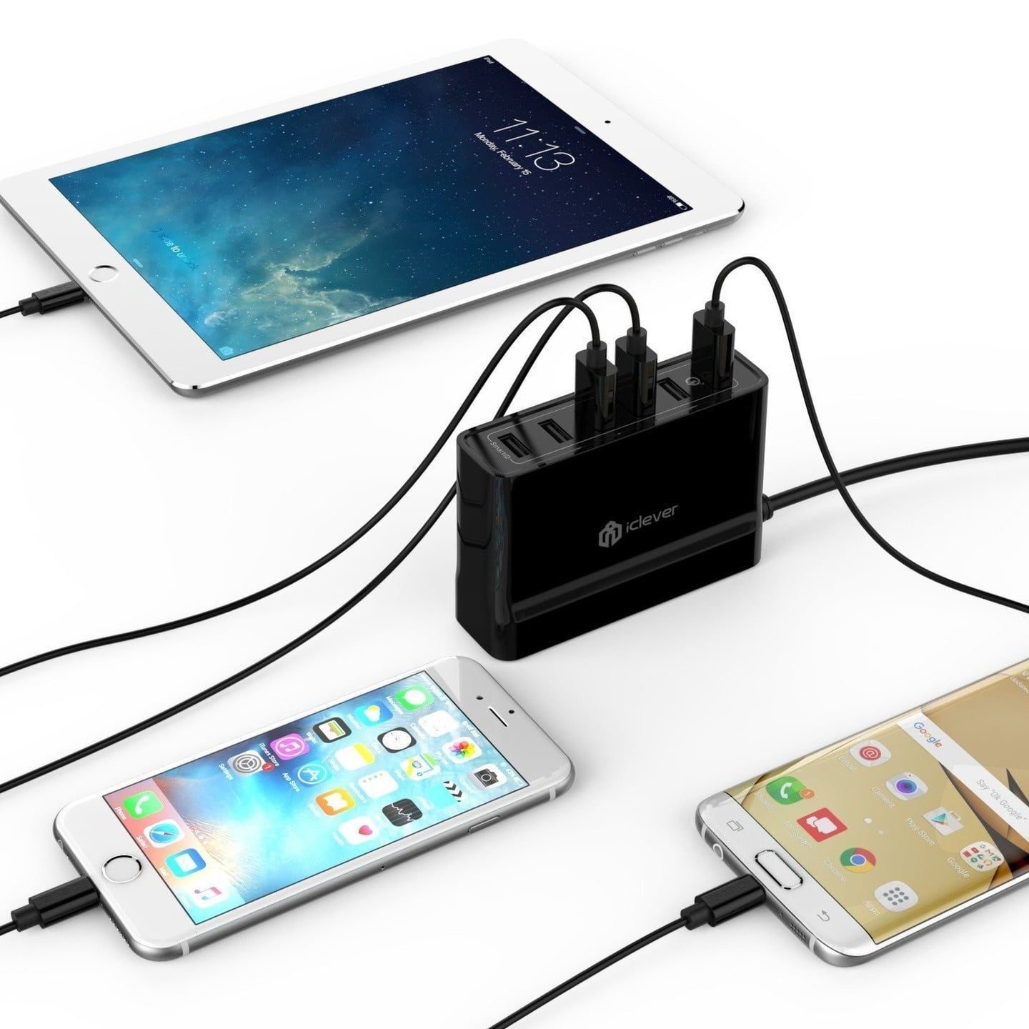 iClever BoostCube+ 6 Port USB Wall Charger