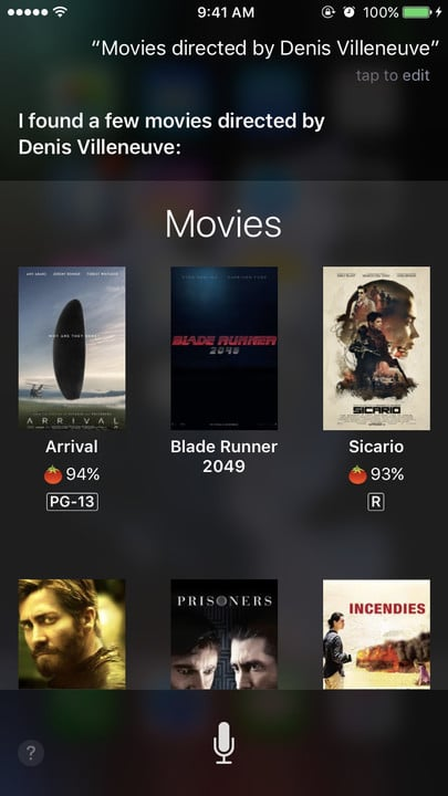 Siri movie Easter eggs Denis Villeneuve