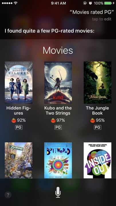 Siri movie Easter eggs PG