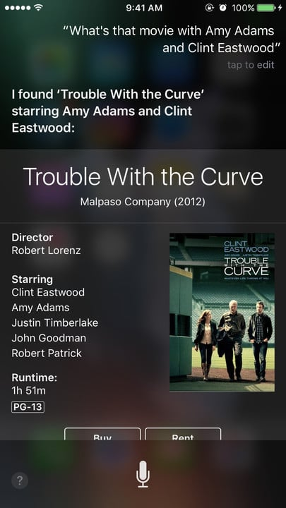Siri movie Easter eggs Amy Adams Clint Eastwood