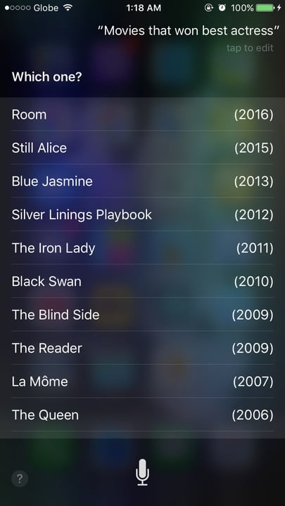 Siri movie Easter eggs best actress