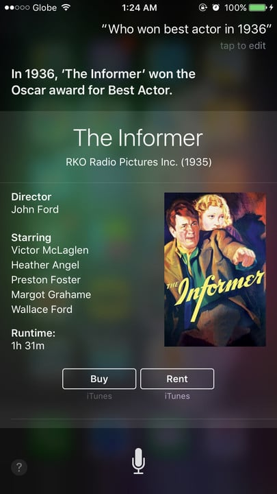 Siri movie Easter eggs best actor The Informer
