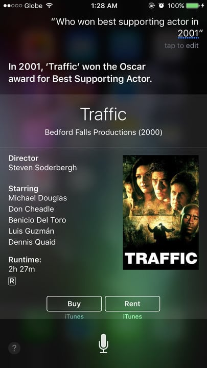 Siri movie Easter eggs best supporting actor Traffic