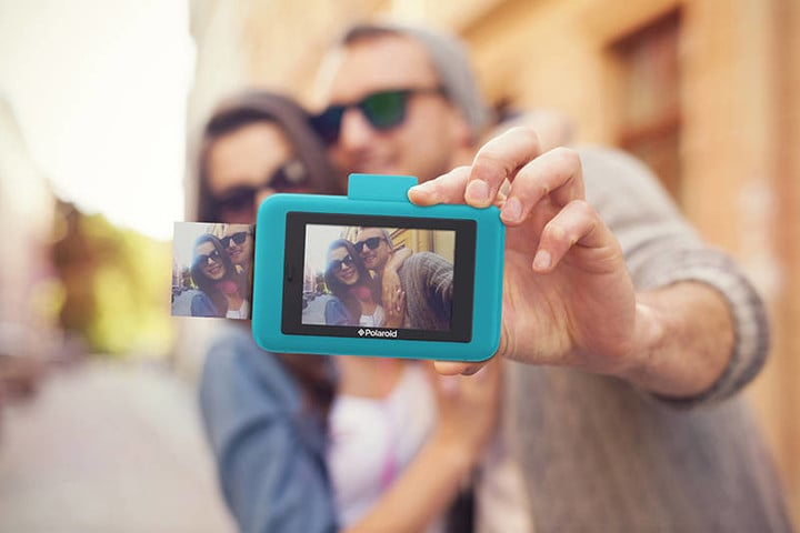 "The Polaroid Snap Touch camera's 3.5"" LCD screen is a touch screen."