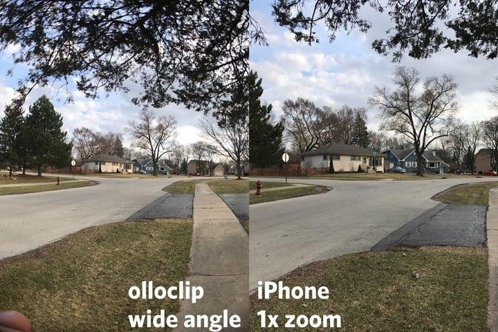 Wide Olloclip Lens (left) vs Standard iPhone Lens (right)