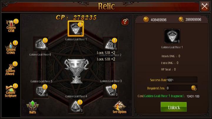 MU Origin update Relic