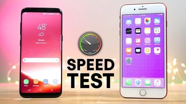 iPhone 7 Plus Destroys Samsung Galaxy S8 in Speedtest