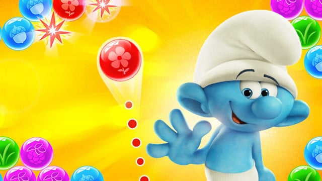 Play With Your Favorite Little Blue Creatures in Smurfs Bubble Story