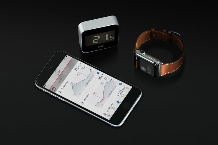 Data collected from Eve Degree can be accessed on iOS devices and even the Apple Watch.