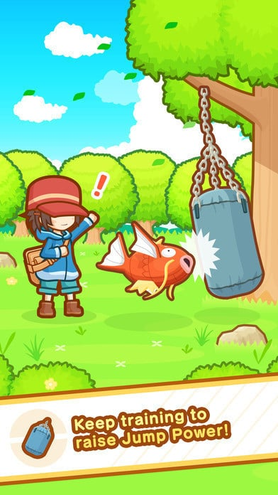 Prepare to train your Magikarp to help raise it to new levels.