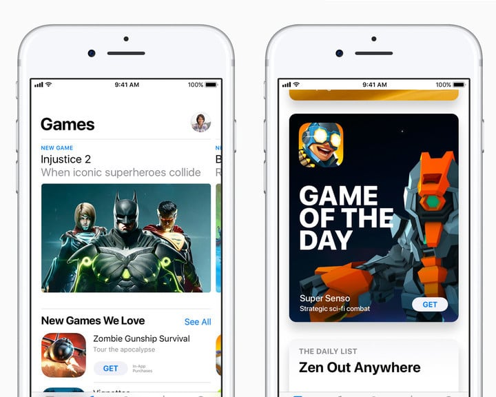 Games now receive their own section of the App Store.