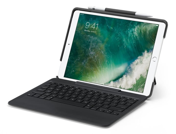 Even though it adds some bulk with the keyboard, Logitech's Slim Combo is a great choice for 10.5-inch iPad owners.