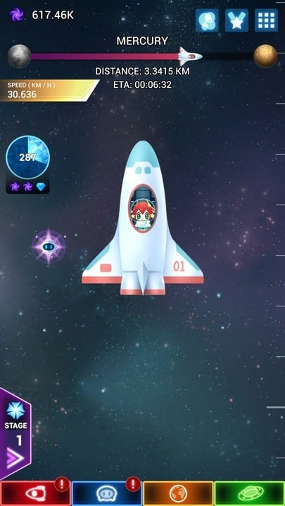 Help Stella propel and guide her space shuttle through the stars, exploring and carrying out her near-impossible mission.