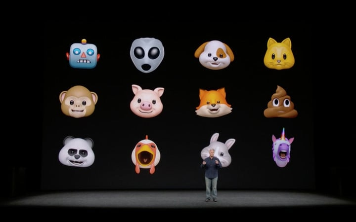 Some of the animojis.