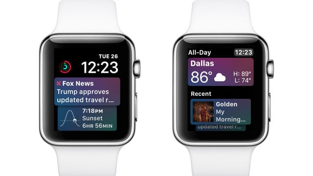 Using the Siri Watch Face in watchOS 4
