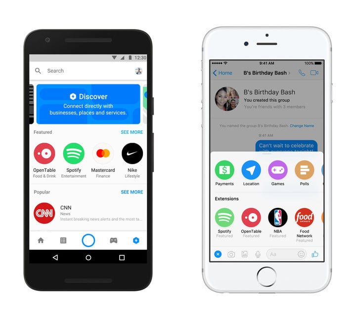 Extensions officially arrived on Messenger in April.
