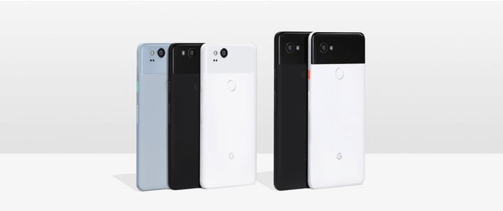 The Pixel 2 and Pixel 2 XL.