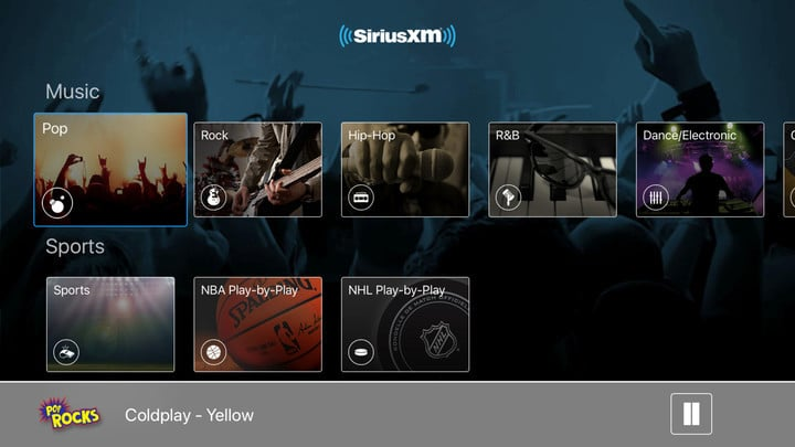 SiriusXM Unveils a New Apple TV App