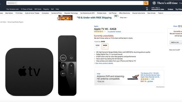 Both the Apple TV 4K and Apple TV Should be on Sale at Amazon Soon