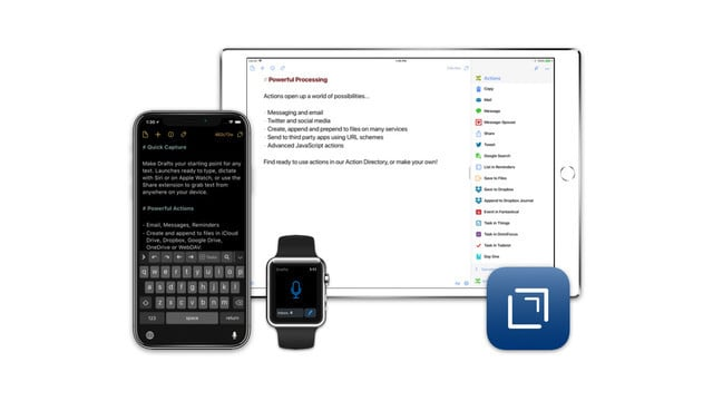 Drafts 5 Arrives With Siri Support, an Updated Editing Experience and More