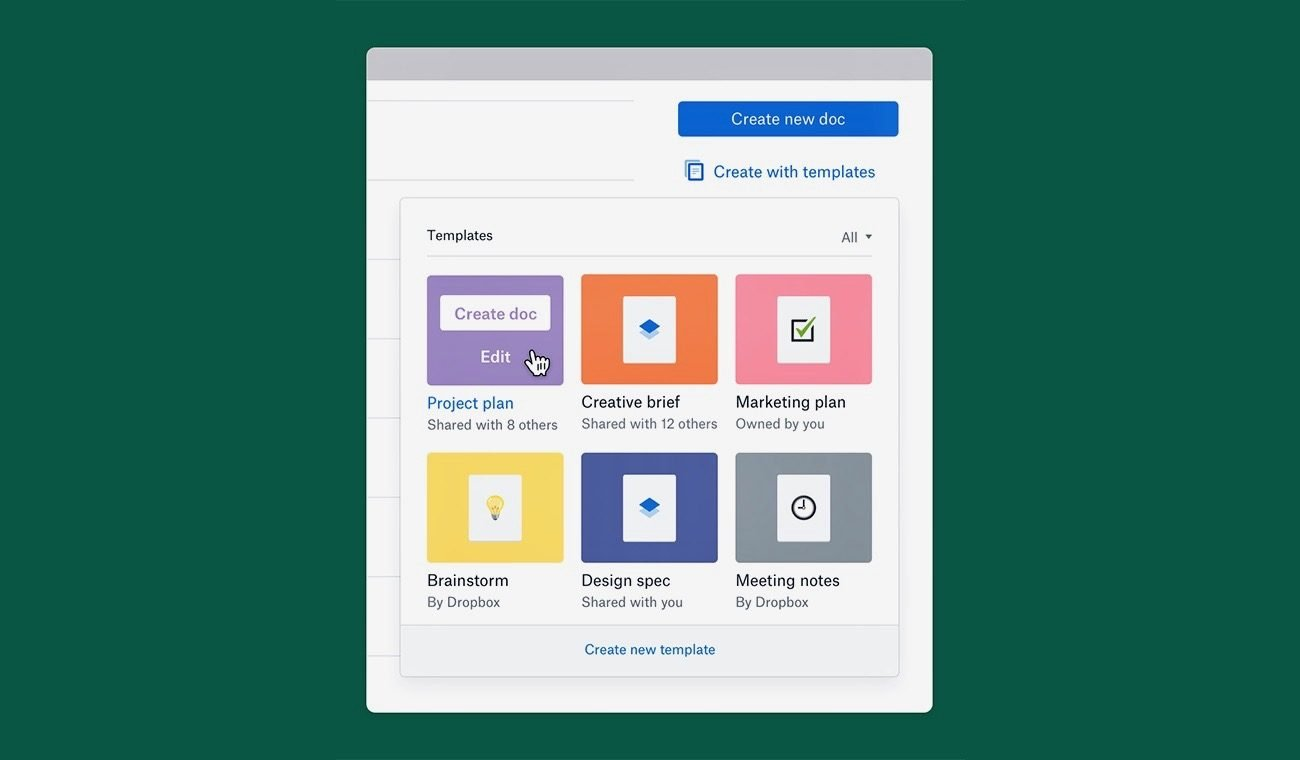 Dropbox Paper Update Brings the Ability to Create Your Own Template