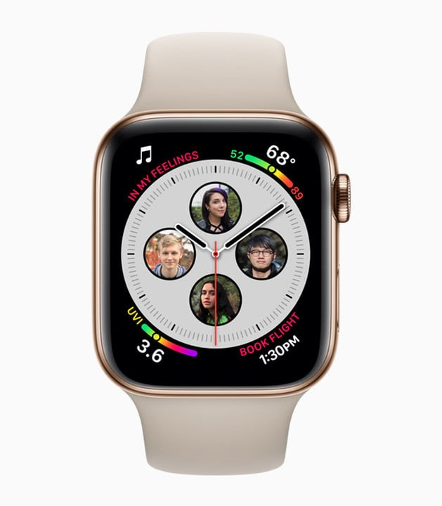 There are eight total complication spots on the Infograph watch face.