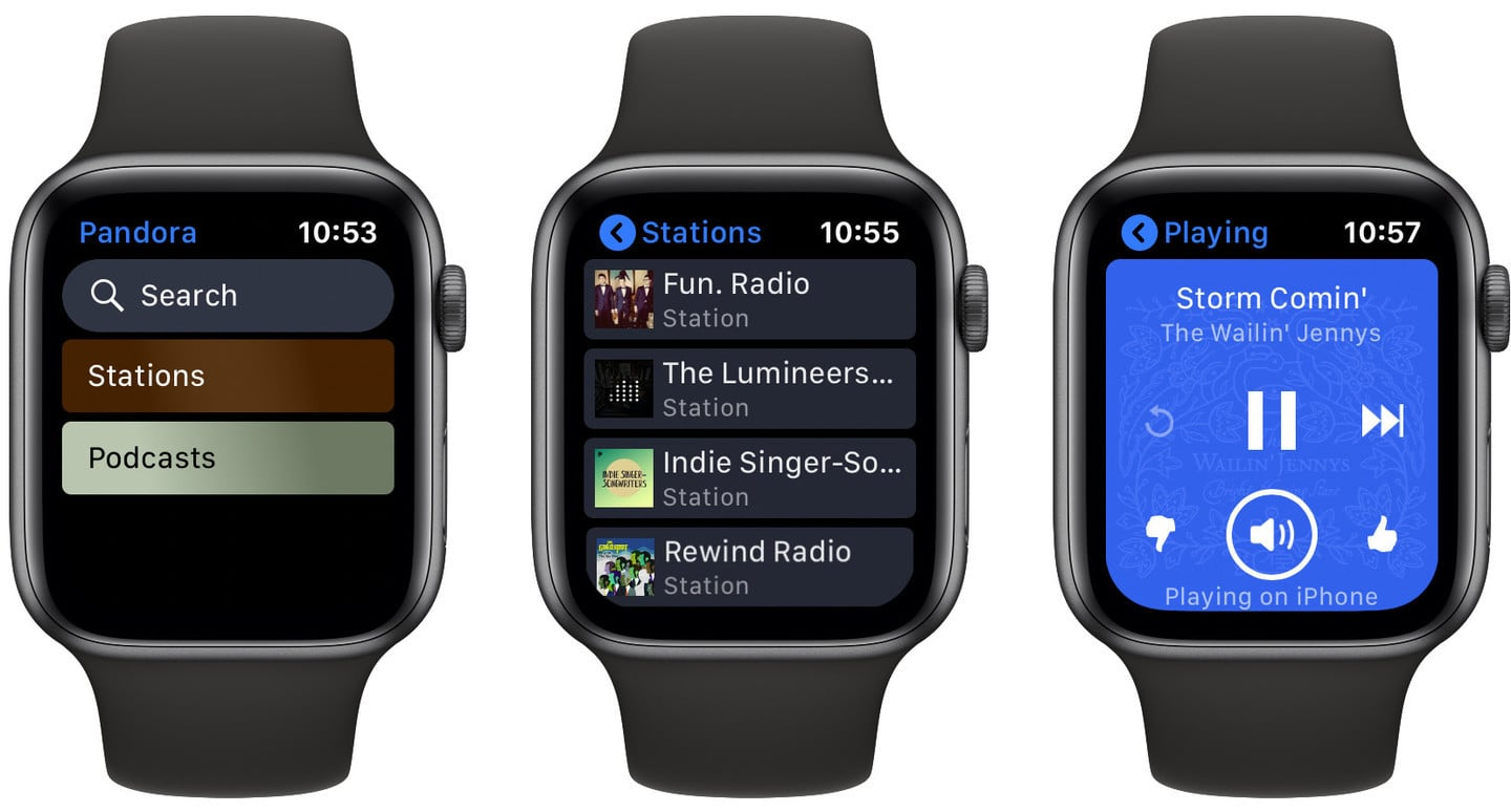 You Can Stream on Pandora Directly From Your Apple Watch