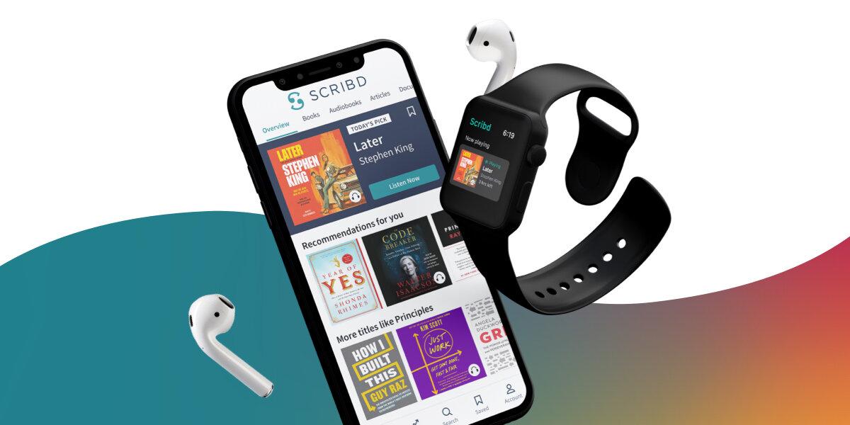 photo of Audiobook App Scribd Lands on the Apple Watch image