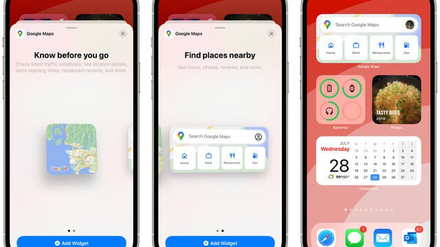 Google Maps Adds iPhone Home Screen Widgets