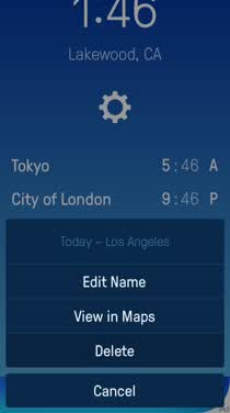 Time Zones is a slick new app to help you keep track of time all over the world