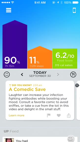 Now you can enjoy the benefits of UP by Jawbone without a separate band