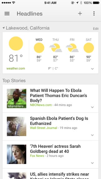 Get comprehensive weather and headlines on iOS with Google News & Weather