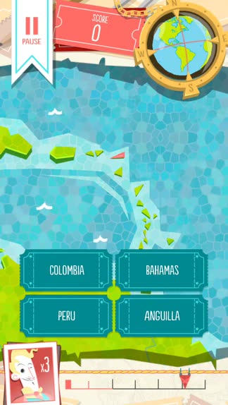 Put your geographical knowledge to the test in Worldly, a challenging trivia game