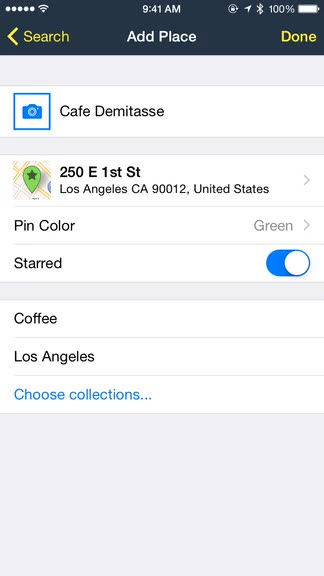Keep track of your present and future favorite locations with Rego