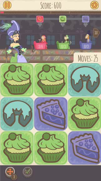 Match and serve delectable treats in Airship Bakery, a tasty new match-three puzzler
