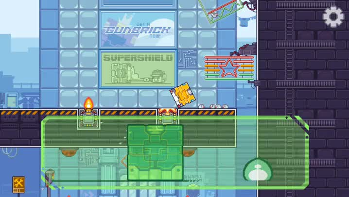 Roll and blast your way to victory in Gunbrick, a challenging puzzle platformer