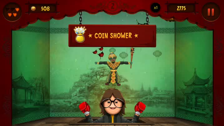 Punch and blast the puppets away in Puppet Punch, an intense and challenging new arcade game