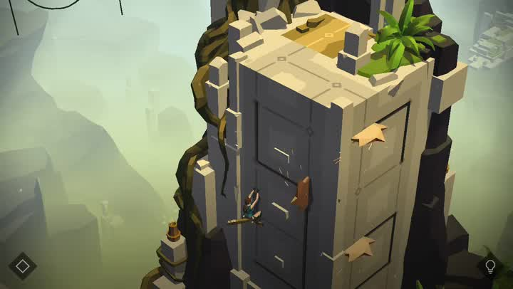 Explore a lost world and solve puzzles in Lara Croft GO